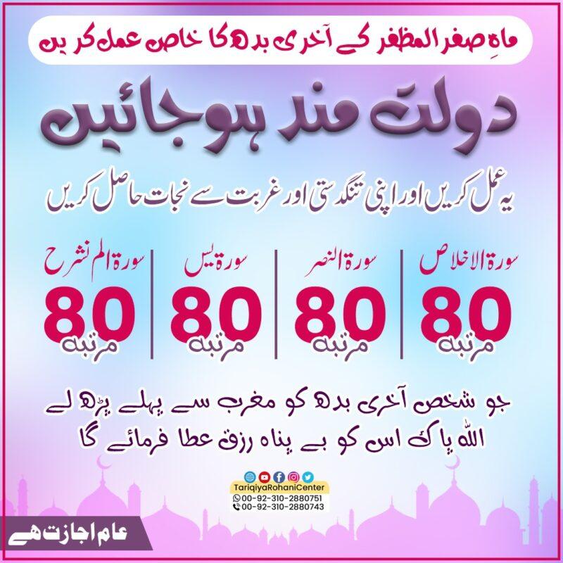 Month of safar ul muzaffar last wednesday amal
